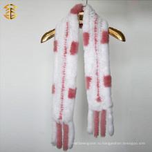 Высокое качество классического стиля зимой моды кролика меха шарф женщин