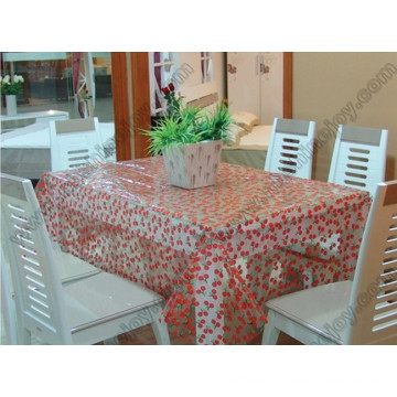 Paño de tabla encantador del patrón de la cereza del estilo, cubierta de la tabla del PVC