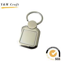 Quadratischer kundengebundener Förderung-Metallschlüsselring (Y02330)