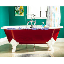 Sunboat Freestanding Bathtub / Enamel Cast Iron Bathtub / European Large Tub / Bathtub