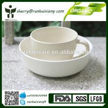 Набор посуды из экологически чистой столовой посуды