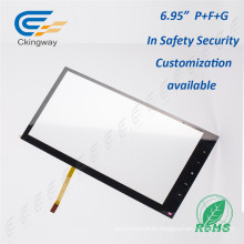 "6.95 ""4 fios Resistive Multi Touch Screen Overlay"