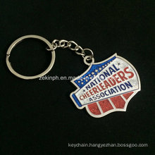 Custom High Quality Silver Key Chains with Multiple Glitter Colors for Cheerleaders Association′s Souvenir Gifts