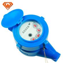 Medidor de água de jacto único com rotor seco