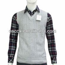 13STC5088 cotton sleeveless argyle sweater vest for men