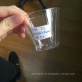 1 oz 2 oz 5 oz 8 oz 9 oz vidros curtos pequeno claro descartável copo de molho de plástico