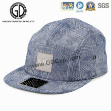 High Quality Hat Denim Blue Screen Print Snapback Camper Cap
