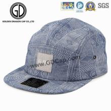 Alta qualidade chapéu denim azul tela impressão snapback campper cap
