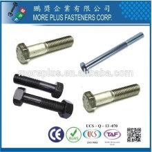 Acier inoxydable de Taiwan 4.8 DIN931 ISO4014 ANSI B18.2.3.1M Sechskantschrauben Vis hexagonale à tête hexagonale à vis semi-fileté semi-fileté