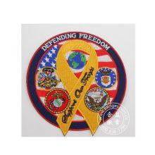 Значок вышивки Свободы, Пользовательский круглый тканый патч (GZHY-PATCH-010)