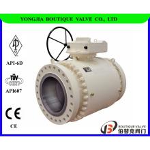 ASTM A105 forgé robinet à boisseau sphérique tourillon