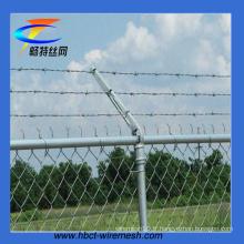 Clôture de maillon de chaîne galvanisée avec fil barbelé (CT-51)