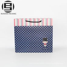 High quality foldable printed paper shopping bag
