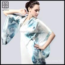 Новый дизайн 100% шелковый цифровой печатный шарф