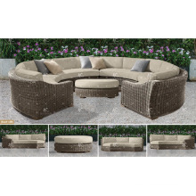 ALAND COLLECTION - Resin PE Poly Rattan wicker synthetic rattan sofa C shape 2017 best selling outdoor garden furniture