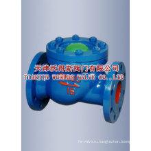 Межфланцевые поворотные обратные клапаны Подключение (H44X-16/25)