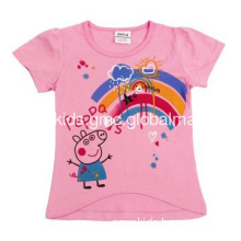 Fancy animal kids clothes wholesale winter girls coat with peppa pig