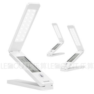 Touch Panel Portable & Foldable & Rechargeable LED Table Lamp with Touch Key and LCD Calendar (LTB762B)