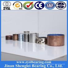 Alto rendimiento Aceite autolubricante personalizado menos rodamiento deslizante con respaldo de acero
