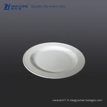 Plain White Flat Faites vos propres assiettes pour dîner, Fine Ceramic Miniature Plates For Hotel