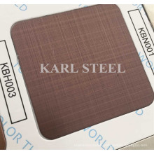430 Stainless Steel Color Hairline Kbh003 Sheet for Decoration Materials