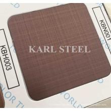 410 folha de aço inoxidável da linha fina Kbh003 da cor para materiais da decoração