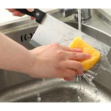 Esponja de celulosa de color amarillo