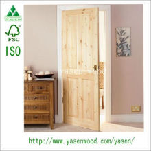 Modern Design Knotty Pine Wood Door