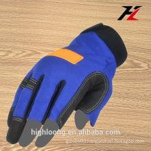 Flexible three fingers fingerless gloves, custom fingerless safety tool gloves
