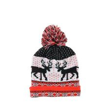 European and American jacquard knitted hat in winter