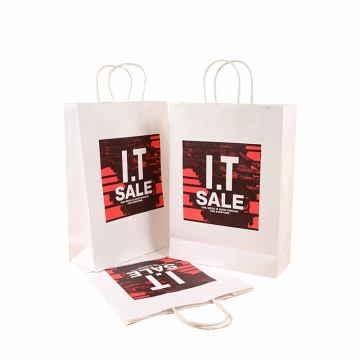 Kertas Coated Printing Hot Stamping Shopping Paper Bag