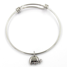 Promotional Cute Charms Stainless Wire Circle Bracelet