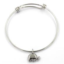 Promocionais encantos bonitos pulseira de aço inoxidável círculo
