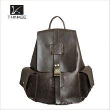 2016 оптовая продажа популярные черный мужские из натуральной кожи рюкзак для мужчин