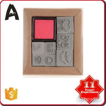 Wholesale factory supply rubber stamps set for children
