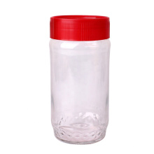 wide mouth round 800ml Tea Coffee Sugar Preserving glass storage jar with plastic cap