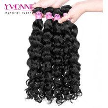 Traje de cabelo malaio virgem encaracolado italiano moda