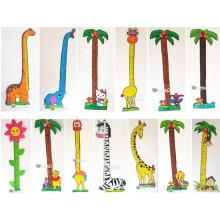 Стены стикер правитель мультфильм животных украшения высоты наклейки ребенка Ева высота таблицы пены высота диаграммы