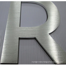 Corporate Building Company Stainless Steel Aluminum Acrylic S3d Illuminated Custom Logo Signs Flat Cut Letter Signs