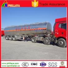3axle молоко воды жидкой пищи транспорта алюминия танкер полуприцеп