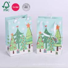 Bolsa de papel impresa aduana de las compras de la boda de la Navidad para el regalo
