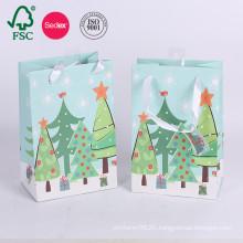 Custom Printed Christmas Wedding Shopping Paper Bag For Gift