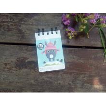 2016 Nouveau design Canton Cover Cut Pocket Spiral Notepad