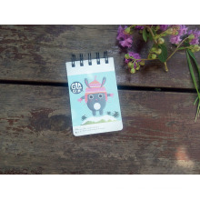 2016 New Design Canton Cover Cut Pocket Spiral Notepad