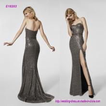 a Strapless High Fork Fishtail Dress