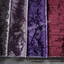 Estofamento de veludo Super macio sofá tecido de malha