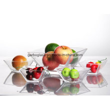Square Shape Glass Bowl Set with 5PCS/Set