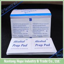 almohadilla desechable de alcohol