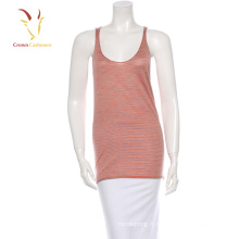 Sexy Femmes Cachemire Tricot Camisole Pull Rayé Gilet