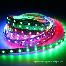New design DC12V 60leds/m SMD5050 break-point 8208 ic flexible pixel led strip light
